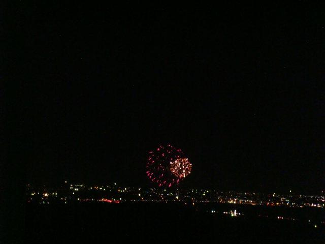 川北花火大会の写真です