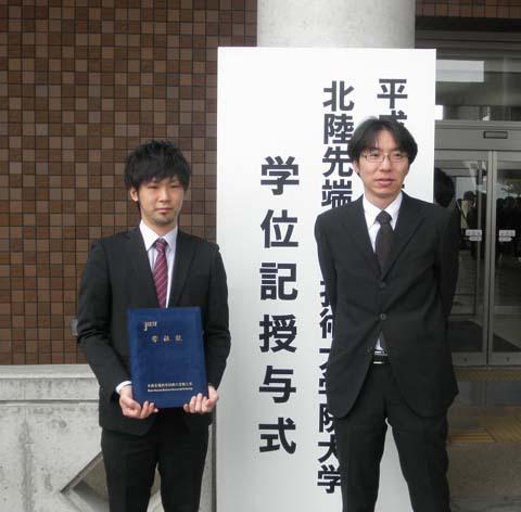 卒業式の写真です