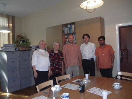 Szczepan先生のグループとの写真です。