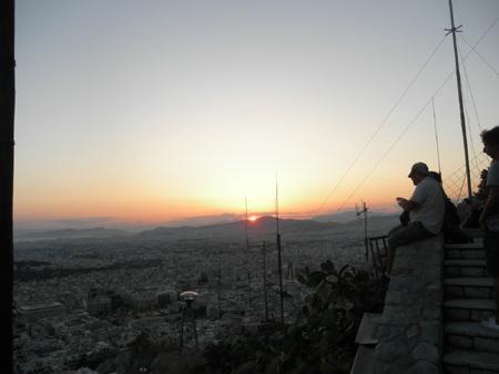 リカヴィトスの丘からの夕日