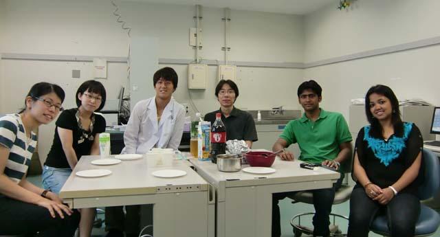 松村和明研究室の歓迎会です