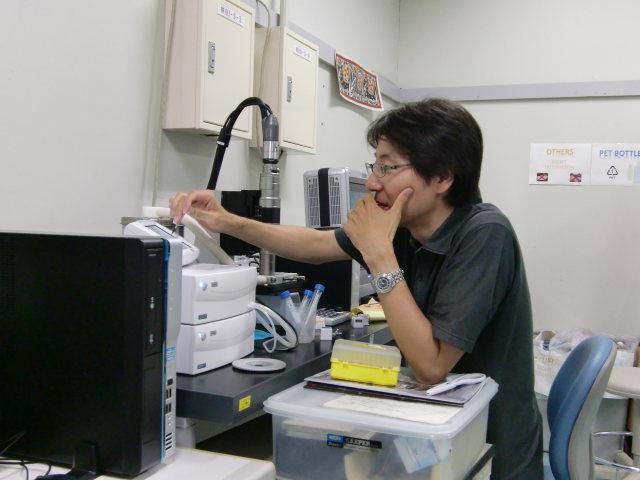 松村先生の実験の様子です。
